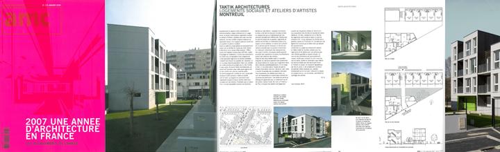 AMC n° 175, Les 100 bâtiments de l'année – janvier 2008