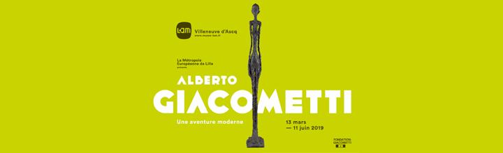 """""""ALBERTO GIACOMETTI, UNE AVENTURE MODERNE"""" présentée du 13 mars au 11 juin 2019 au LaM à Villeneuve d'Ascq"""