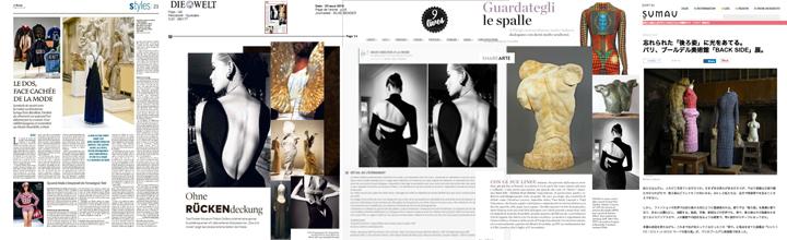 """Revue de presse (extrait) de l'exposition """"BACK SIDE – DOS A LA MODE"""""""